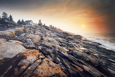 Sunrise at Pemaquid Point II by Gary Thompson