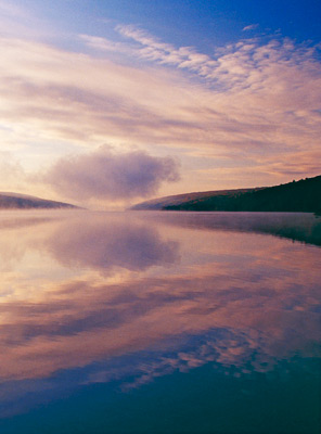 Cloud over Hemlock Lake (cropped) by Gary Thompson